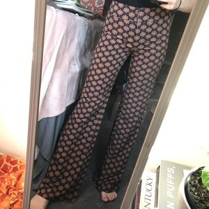 Cool patterned high waisted flare pants